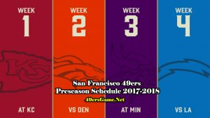 San Francisco 49ers Game Schedule